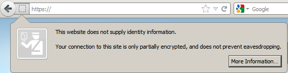 site is only partially encrypted